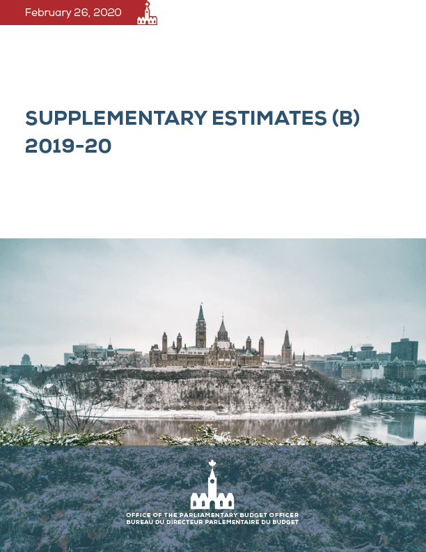 Supplementary Estimates (B) 2019-20